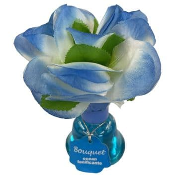 BLUE FLOWER HOME AIR FRESHENER kitchen bathroom bedroom fresh air scent caravan